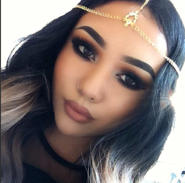 Hair Accessory Scroll Head Chain Head Chains Gold Chain Accessories Jewelry Septum Piercing Hoop Nose Ring Wheretoget