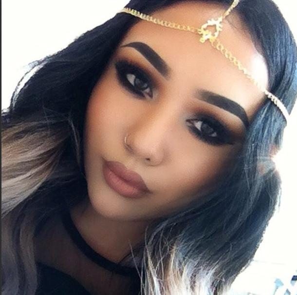Hair Accessory Scroll Head Chain Head Chains Gold Chain