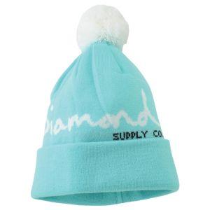 7141e21a4 Diamond Supply Co OG Script Pom Beanie - Men's - Skate - Accessories -  Diamond Blue
