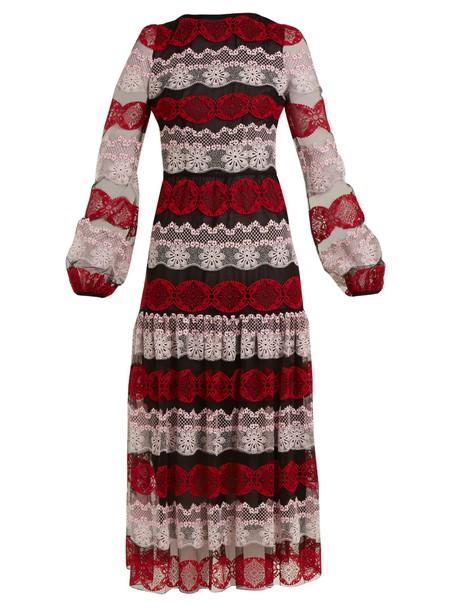 GIAMBATTISTA VALLI dress lace dress long lace black