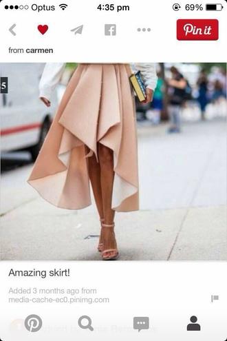 skirt pink dip pleated long midi