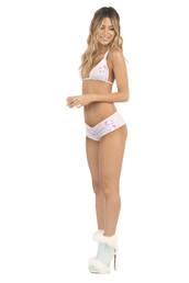 top,bikini top,halter top,pink,print,reversible,triangle,bikiniluxe