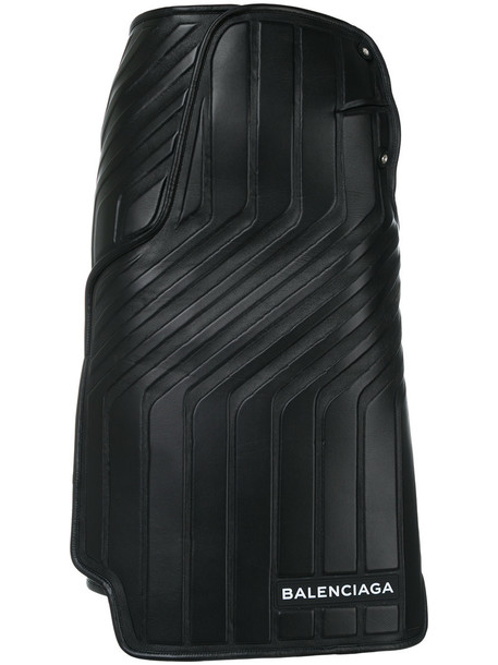 skirt women car leather black