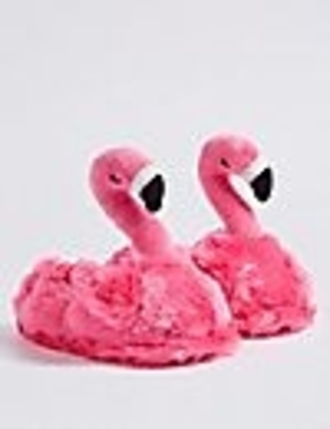 shoes home decor fluffy flamingo slippers