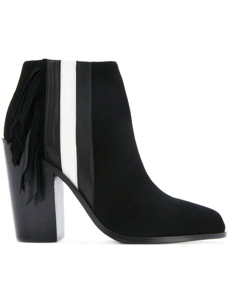 Senso women leather suede black shoes