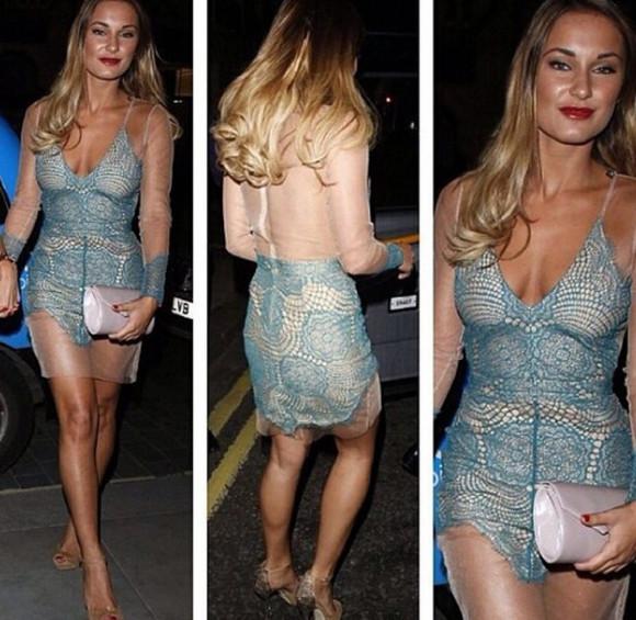 lace dress party dress v neck dress