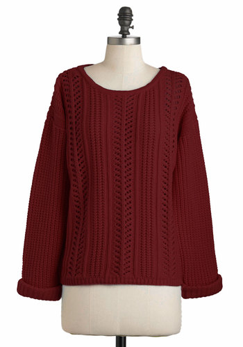 Good Company Sweater in Burgundy | Mod Retro Vintage Sweaters | ModCloth.com