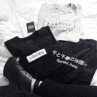 shirt grey t-shirt black t-shirt chinese symbols chinese writing black grey fashion black shirt grey shirt style t-shirt