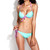 Pastel Blue Peek-a-boo Push-up Bikini Set | Emprada