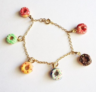 jewels donut charm gold chain #donut #jewellery #cute #bracelet