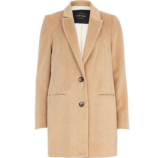 Camel drawn wool-blend coat - coats - coats / jackets - women