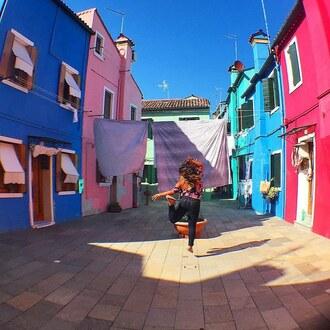 floral instagram multicolor teal street