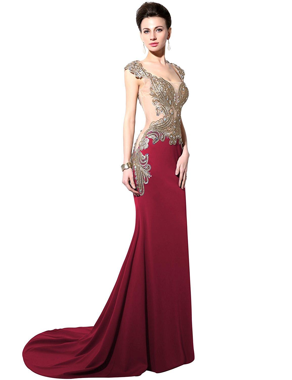 Amazon.com: Sarahbridal Women\'s Mermaid Evening Dress Formal Long ...