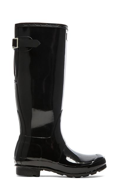 Hunter boot back black