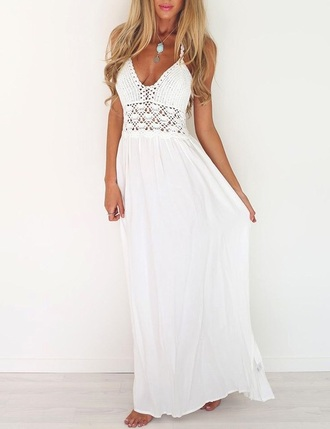 dress white white dress lace dress cute dress