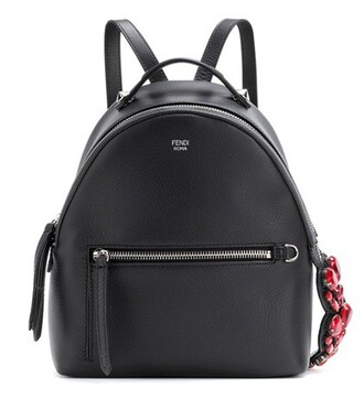 mini embellished backpack leather backpack leather black bag