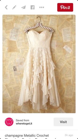dress lace strapless lace dress