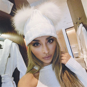hat,fur,fluffy,beanie,white,fall outfits,snow,snug,cute
