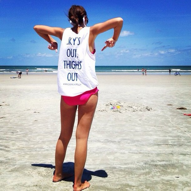 5f5722b602 shirt thigh highs thighs thighsplit graphic crop tops graphic tee quote on  it beach cover up