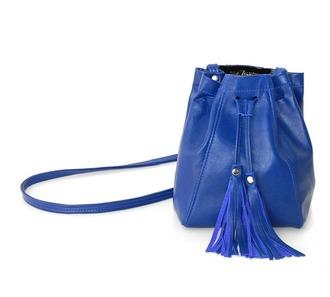 bag bucket bag fringes handbag leather jacket tassel