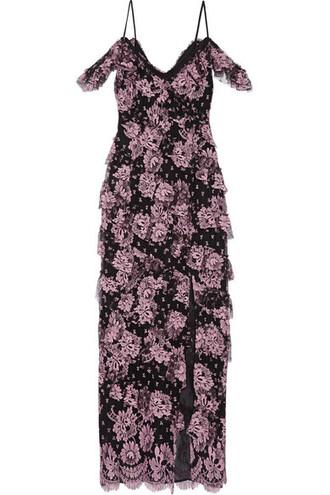 gown lace black dress