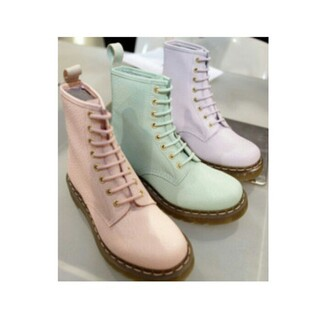 shoes pastel boots green pink
