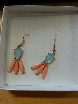 jewels blue coral earrings dangle