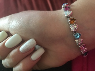 jewels swarovski heart silver