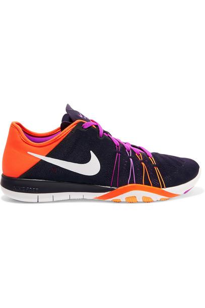 Nike mesh sneakers neoprene dark purple shoes