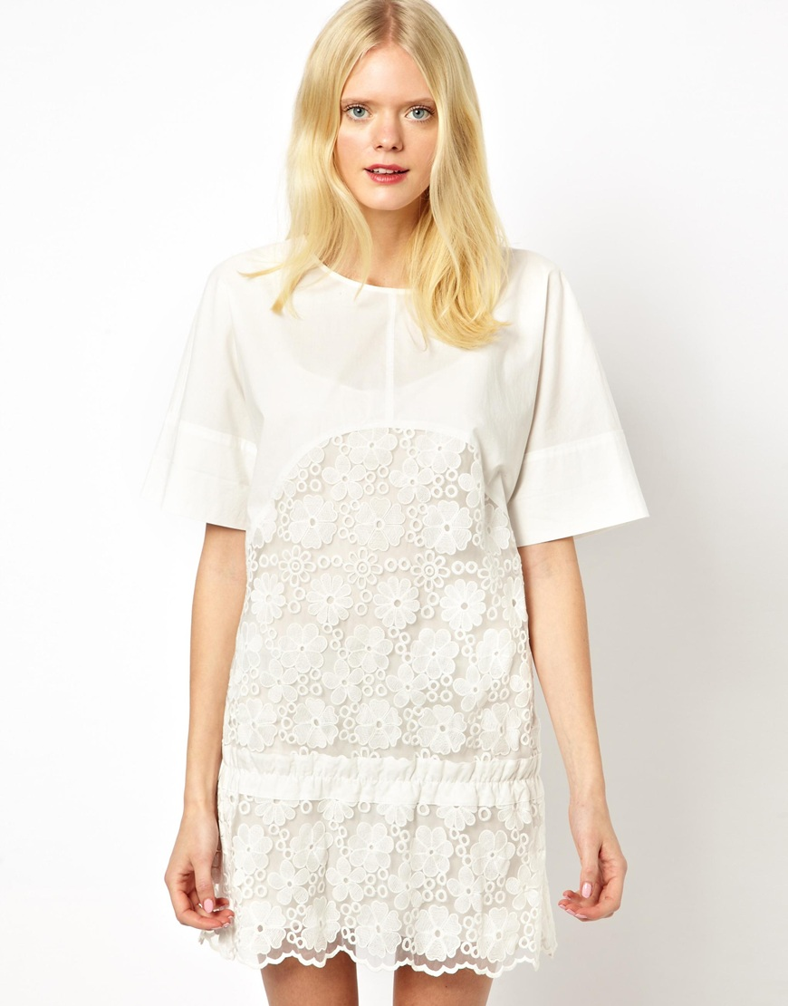 See by chloe flower embroidered dress at asos.com