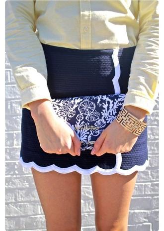 skirt navy classy