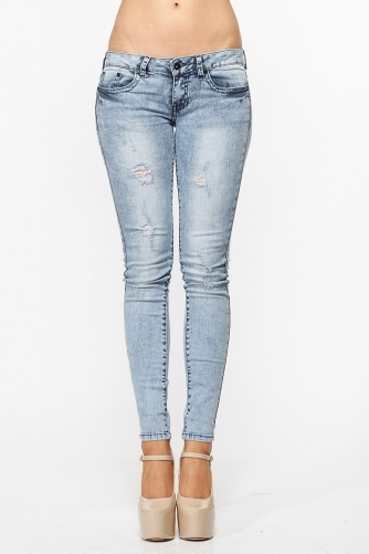 Acid Washed Skinny Jeans @ Cicihot Pants Online Store: sexy pants,sexy club wear,women's leather pants, hot pants,tight pants,sweat pants,white pants,black pants,baggy pants