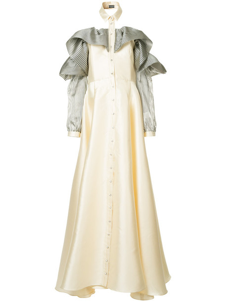Alexis Mabille gown women white silk dress