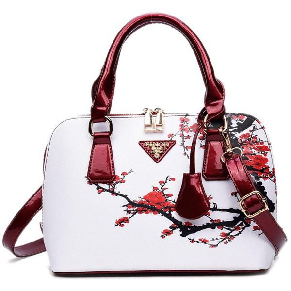 Rosewholesale Floral Printed Handbag