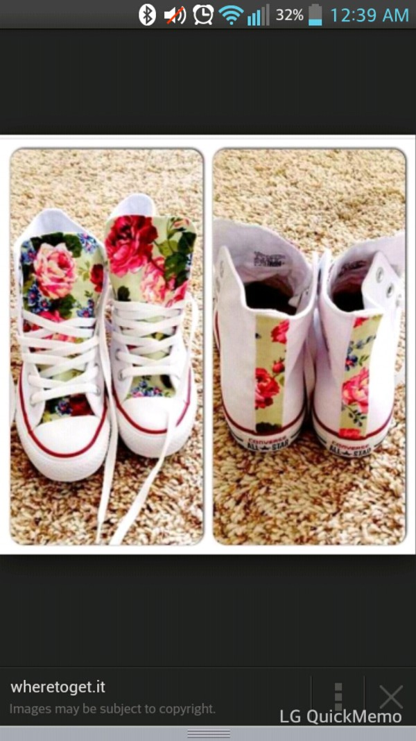 f6964bf530b7 Custom Floral High Top Converse -made to order- any size