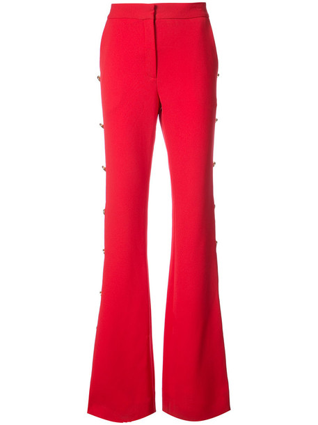 Prabal Gurung women embellished red pants
