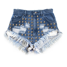 Studded Shorts - Arad Denim