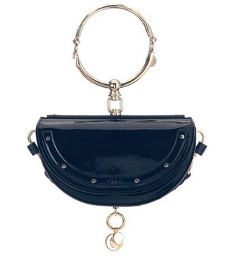 bag leather blue