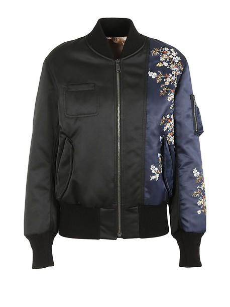 floral black jacket