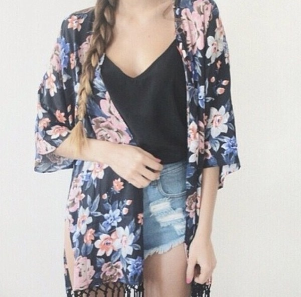 skirt sweater kimono shirt style fashion cardigan black and white boho blouse shorts
