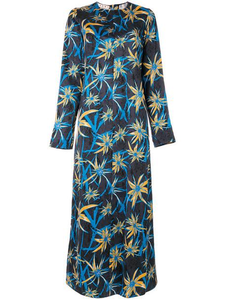 dress print dress women floral print blue