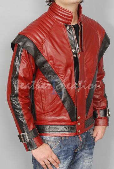 Red michael jackson thriller leather jacket s m l xl en vente sur ebay.fr (fin le  14