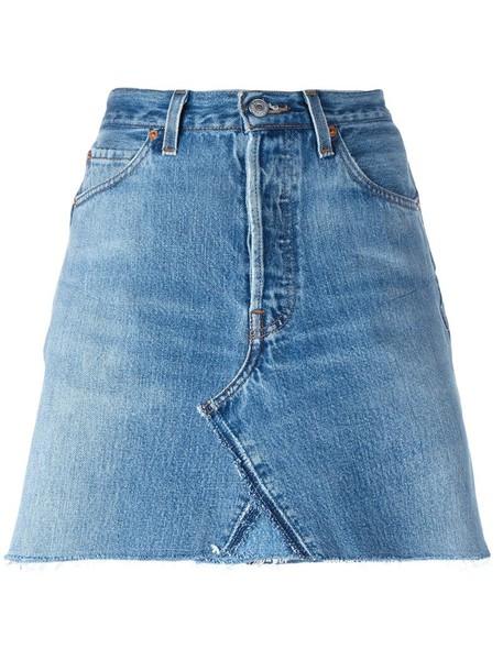 skirt denim skirt denim women cotton blue 24
