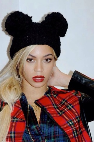 hat beyonce mickey mouse black