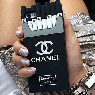 phone cover cigar smoke cigarrettes chanel case