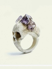 jewels,skull,skull ring,ring,bones,stones,hipster,bohemian,rings and jewelry,gothic jewellery,decoration,grunge,goth