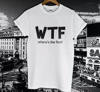 t-shirt message tshirt food
