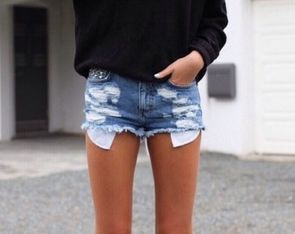 shorts denim rip ripped short clothes boho summer ripped shorts denim shorts