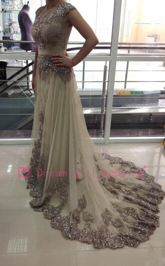 dress pearl sexy dress long prom dress fashion beaded dress long fashion dress beaded crystal dress big train evening dress luxury dresses wedding party dress