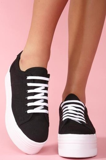 shoes black shoes white platform shoes sportswear sport shoes platform shoes sneakers platform sneakers black platforms black fans grunge goth cute emo